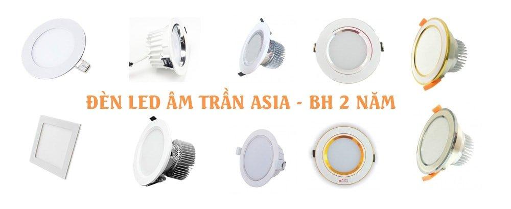 đèn led âm trần asia