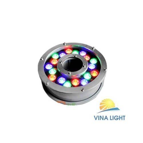 Đèn LED âm nước bánh xe ĐỔI MÀU 18W