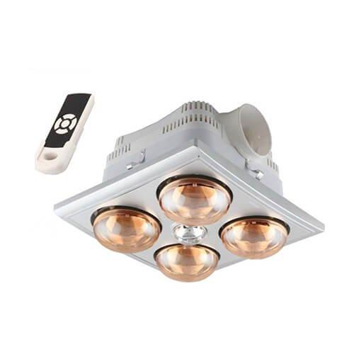 Đèn sưởi nhà tắm Heizen bốn bóng HE-4BR