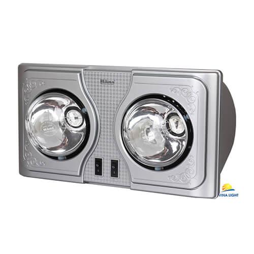 Đèn sưởi nhà tắm Hans hai bóng H2B