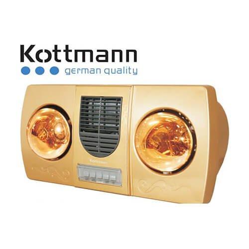 Đèn sưởi Kottmann K2B-HW-G 2 bóng có quạt thổi