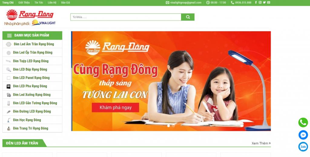 Top 5 website chiếu sáng LED phổ biến ở Việt Nam