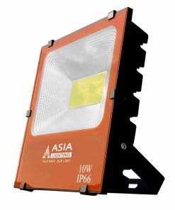 Đèn Pha Led 20W Asia - vỏ cam - ánh sáng trắng vàng