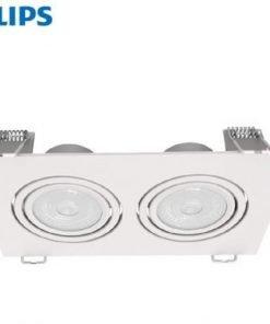 Đèn led chiếu điểm vuông GD100 2x6w Philips