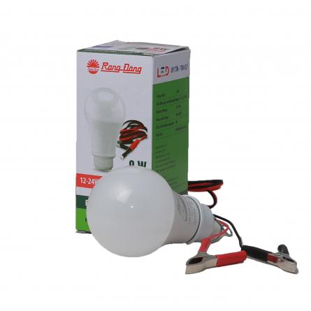 Bóng LED Bulb A60/9W 12-24VDC kẹp 6500K SS Rạng Đông