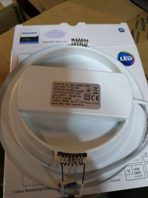 Đèn led âm trần tròn 14W DN027B G2 LED12 D150 RD Philips