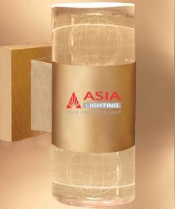 Đèn tường hai đầu địa cầu màu đồng 12w DTU-ĐC Asia