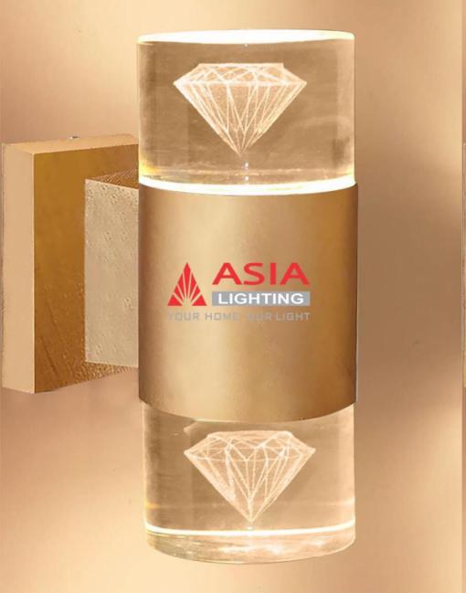 Đèn tường hai đầu kim cương màu đồng DTU-KC Asia