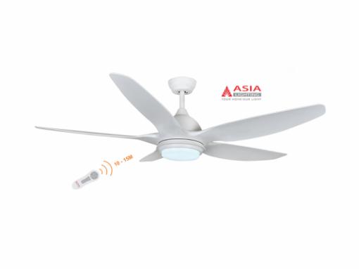 Quạt trần đèn cao cấp 38w QT02 - T - Trắng sang trọng Asia