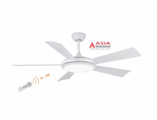 Quạt trần đèn cao cấp 38w QT01 - T - Trắng sang trọng Asia