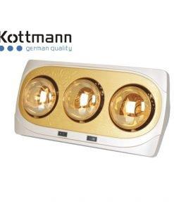 Đèn sưởi nhà tắm Kottmann 3 bóng treo tường K3B-NV