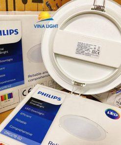 Đèn led âm trần tròn 17W DN027B Led15 D175 RD Philips