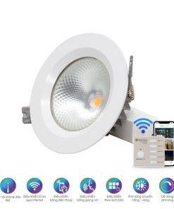 Đèn LED âm trần đổi màu AT14.BLE Rạng Đông
