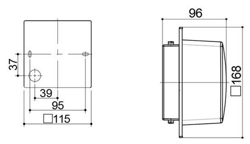 Kích thước của Đèn tường Led trang trí 5.5W HH-LW60105K88/LW60205K88 Panasonic