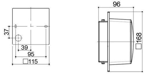 Kích thước của Đèn tường Led trang trí 5.5W HH-LW60107K88/LW60207K88 Panasonic
