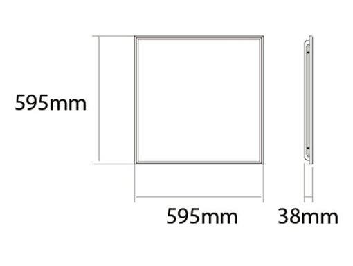 Kích thước của Đèn Led panel vuông 36W NNFC7036188 Panasonic