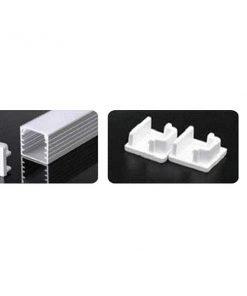 Nẹp nhôm lắp nổi dùng cho LED dây trong nhà có chiều rộng 12.5mm NST-AB1414 Nanoco
