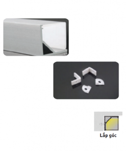 Nẹp nhôm lắp âm dùng cho LED dây trong nhà có chiều rộng 10mm NST-AB1515 Nanoco