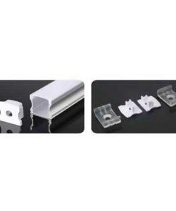 Nẹp nhôm lắp nổi dùng cho LED dây trong nhà có chiều rộng 12mm NST-AB1714 Nanoco