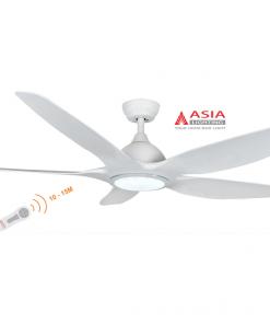 Quạt trần đèn cao cấp 38w QT03 - T - Trắng sang trọng Asia