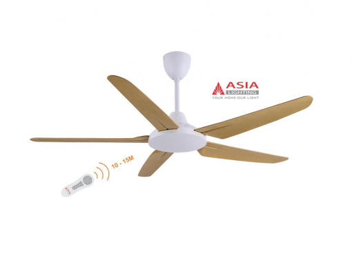 Quạt trần đèn cao cấp 80w QT05 - G - Gỗ phong cách Asia