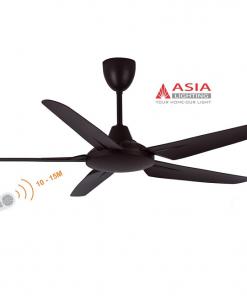 Quạt trần đèn cao cấp 80w QT05 - N - Nâu cà phê Asia