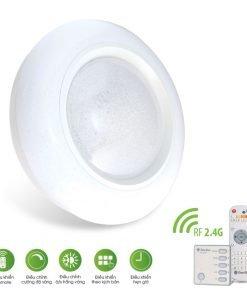 Đèn LED ốp trần đổi màu điều khiển Remote LN20.RF 500/40W Rạng Đông