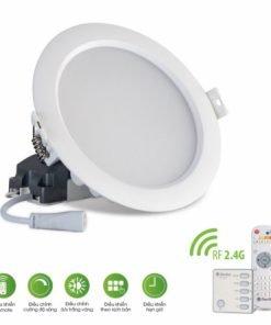 Đèn LED âm trần đổi màu AT16.RF 90/7W Rạng Đông