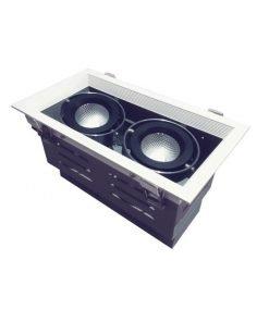 Đèn Led âm trần 2x10W lỗ khoét 240x120 mẫu H DL-HW2x10 Vinaled